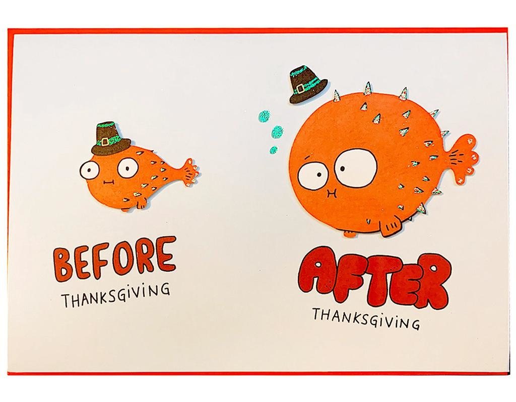 PAPYRUS® Thanksgiving Cards Thanksgiving Puffer Fish