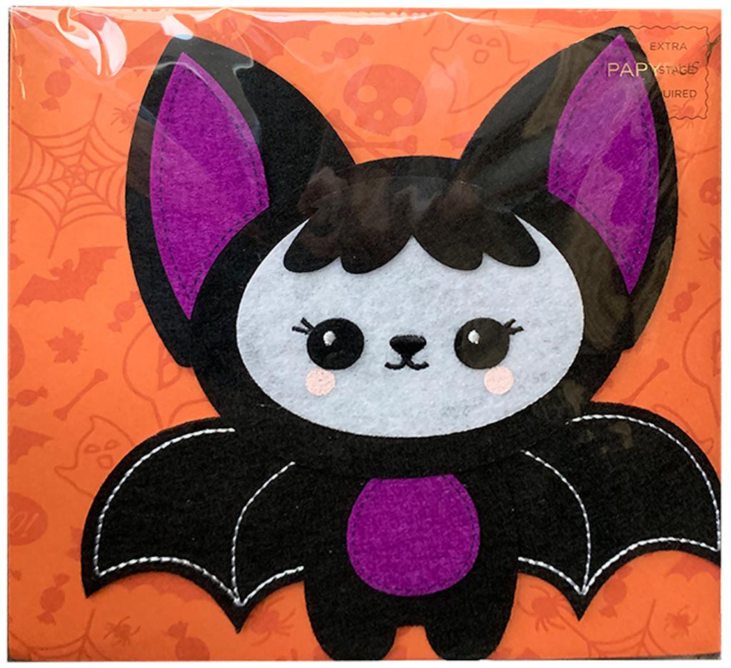 PAPYRUS® Halloween Cards Felt Bat FANG-TASTIC You