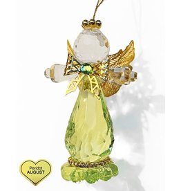 Kurt Adler Birthstone Angel Ornaments 3.25 Inch AUGUST Peridot