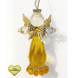 Kurt Adler Birthstone Angel Ornaments 3.25 Inch NOVEMBER Topaz