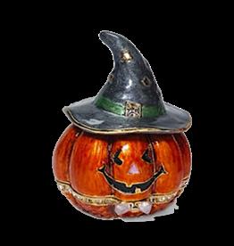 Department 56 Jeweled Halloween Pumpkin Keepsake Trinket Box