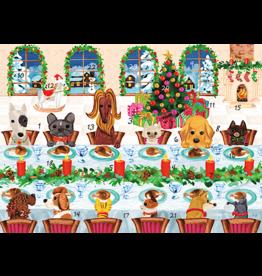 Caspari Christmas Advent Calendar Card The Pet Table