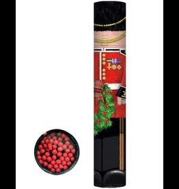 Caspari Christmas Fireplace Matches 11 Inch Long 50Pk Palace Guard Nutcracker Round Matchbox Set
