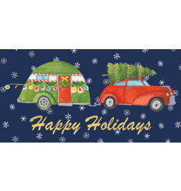 Caspari Christmas Money Cards 4pk Christmas Rush Family Car Tree Camper