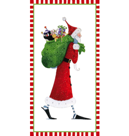 Caspari Christmas Money Cards 4pk Santa With Gifts In Sack