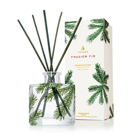 Thymes Frasier Fir Reed Diffuser Set Petite 4 Oz Pine Needle Design