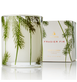 Thymes Frasier Fir Candles 6.5oz Glass w Pine Needle Design