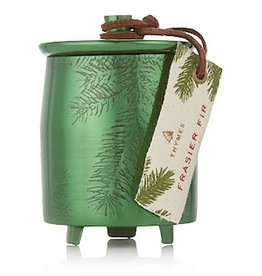 Thymes Frasier Fir Candle Small Green Metal Tin With Lid 4 Oz