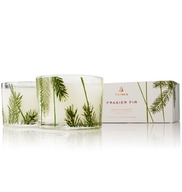 Thymes Frasier Fir Candles Set of 2 3.75 Oz Glass Pine Needle Design