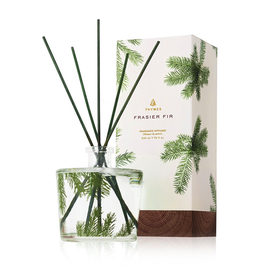 Thymes Frasier Fir Reed Diffuser Set 7.75oz Pine Needle Design