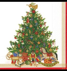 Caspari Christmas Paper Lunch Napkins 20pk Oh Christmas Tree
