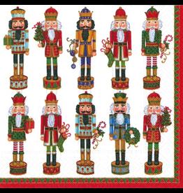 Caspari Christmas Paper Lunch Napkins 20pk Nutcracker Parade
