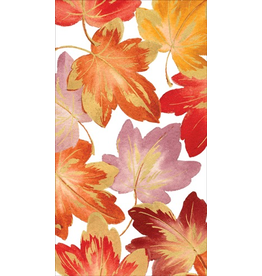 Caspari Fall Thanksgiving Paper Guest Towel Napkins 15pk Fallen Leaves