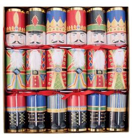 Caspari Celebration Christmas Crackers 6pk Nutcrackers