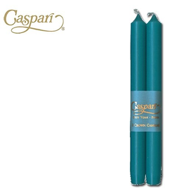 Caspari Crown Candles Tapers 10 inch 2pk Turquoise