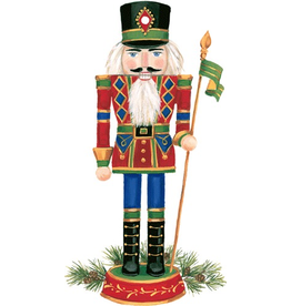 Caspari Ornament Gift Tags 4pk Christmas Nutcracker