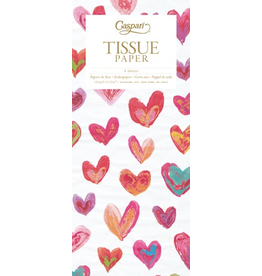 Caspari Gift Tissue Paper 4 Sheets Happy Hearts