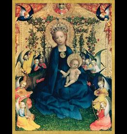 Caspari Boxed Christmas Cards 16pk The Virgin Of Rose Bush Cards