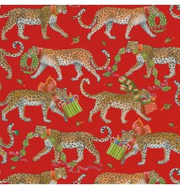Caspari Christmas Gift Wrapping Paper 8ft Roll Christmas Leopards