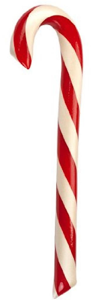 Hammonds Candies Peppermint Candy Cane Lg Big 1.75oz 8 Inch