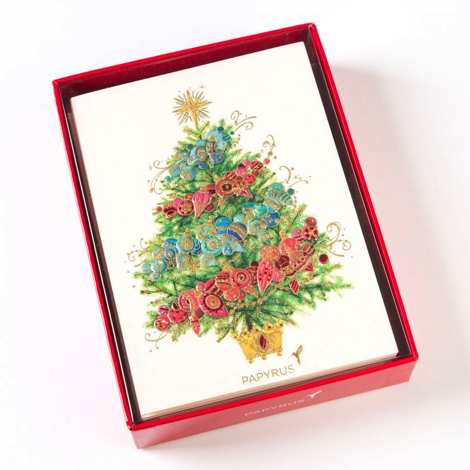 PAPYRUS® Boxed Christmas Cards Ombre Christmas Tree 12pk