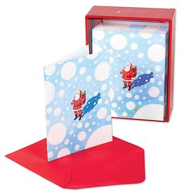PAPYRUS® Boxed Christmas Cards 20 CT Santa in the Snow