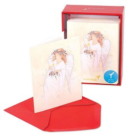 PAPYRUS® Boxed Christmas Cards 20 CT Angel With Candle