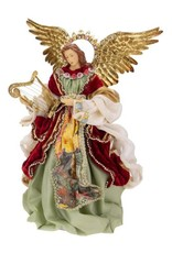 Mark Roberts Christmas Decorations Classic Standing Angel With Harp Instrument 14 Inch