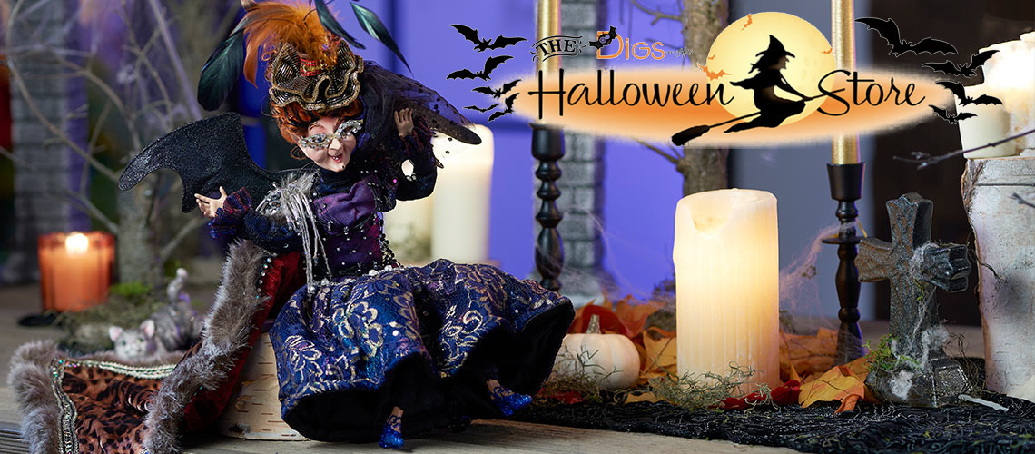 Mark Roberts Halloween Witches, Skeletons, Pumpkins and More than the Digs N Gifts Halloween Store