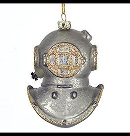 Kurt Adler Glass Deep Sea Diver Helmet Ornament Nautical Diving