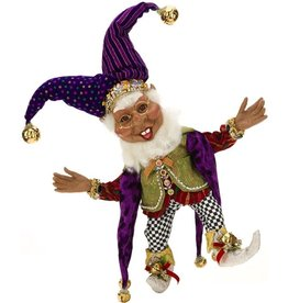 Mark Roberts Fairies Elves Black American Court Jester Elf MD 16.5 Inch