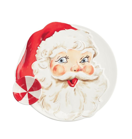 Mud Pie Christmas Santa Chip And Dip Server 14 Inch
