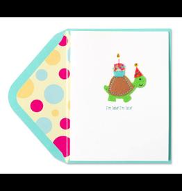 PAPYRUS® Belated Birthday Card Handmade Late Turtle w Cupcake