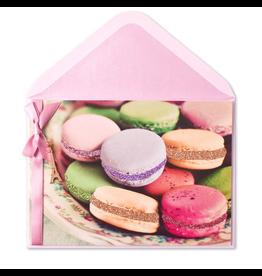 PAPYRUS® Birthday Card Birthday Macarons w Eiffel Tower Shaped Charm