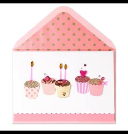 PAPYRUS® Birthday Cards Fabulous Handmade Birthday Cupcakes