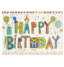 PAPYRUS® Birthday Cards Happy Birthday Patterned