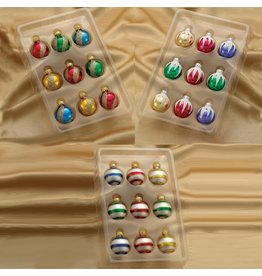Kurt Adler Glass Multi-color Miniature Decorated Ball Ornaments 27pk 35MM