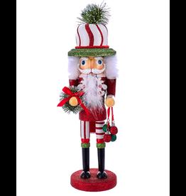 Kurt Adler Hollywood Red White Green Hat Christmas Nutcracker 17 Inch B