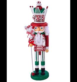Kurt Adler Hollywood Red White Green Hat Christmas Nutcracker 17 Inch A