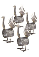 Mud Pie Tin Turkey Napkin Ring 4 inch - Set of 4