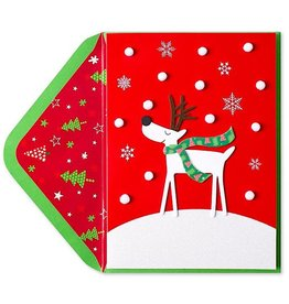PAPYRUS® Christmas Card Happy Reindeer In The Snow