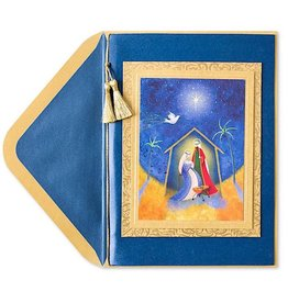 PAPYRUS® Christmas Card Nativity With Cord And Tassel