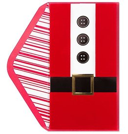 PAPYRUS® Christmas Card Santa Suit Santa Belt Money Enclosure