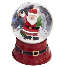 Kurt Adler Mini Christmas Snow Globe Santa Ringing Bell W Tree