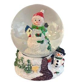 Kurt Adler Mini Christmas Snow Globe Snowman W Bird House