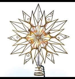 Kurt Adler Tree Toppers 24pt Capiz Style Wire Snowflake Star