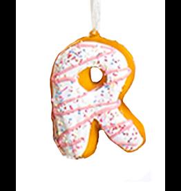 Kurt Adler Squeezable Donut Letter Ornament Initial R