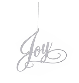 Kurt Adler JOY Metal Sentiment Christmas Ornament 4 inch