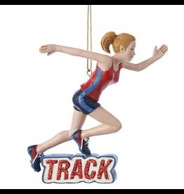Kurt Adler Girl Track Runner Christmas Ornament
