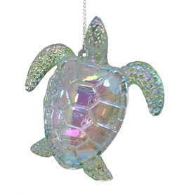 Kurt Adler Iridescent Acrylic Sea Turtle Ornament